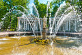 Adam and eve fountain in peterhof park in peterhof russia Stock Photography