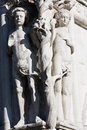 Adam and eve statue Royalty Free Stock Photo