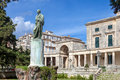 Adam and palace museum corfu general sir frederick s statue in front of the of asian art town as governor of the ionian he built Stock Image