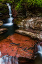 Adam's Falls and a small cascade in Ricketts Glen State Park Royalty Free Stock Photo