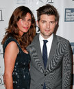 Adam scott naomi scott new york oct actor and wife attend the centerpiece gala presentation of the secret life of walter mitty Royalty Free Stock Photography