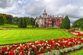 Adare gardens and castle in red ivy Royalty Free Stock Images
