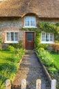 Adare village, Irish traditional cottage house. Royalty Free Stock Photo