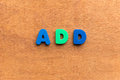 Add colorful word on the wooden background Royalty Free Stock Image