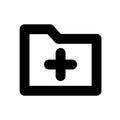 Add folder icon Royalty Free Stock Photo