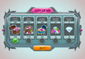 Add gems panel Royalty Free Stock Photo