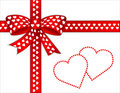 Add hearts message present your Royaltyfri Bild