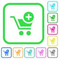 Add item to cart vivid colored flat icons icons Royalty Free Stock Photo