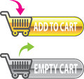 Add to Cart Button Empty Cart Button with shopping cart Vector Royalty Free Stock Photo