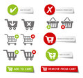 Add to cart buttons collection of sales and Stock Images