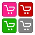 Add To Cart Buttons icons set. Shopping logo. Royalty Free Stock Photo