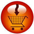 Add to cart icon Royalty Free Stock Photo