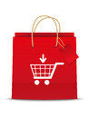 Add to cart shoping icon Stock Image