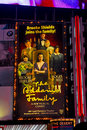 The Addams Family billboard, Times Sq. NYC. Royalty Free Stock Photos
