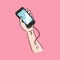 Addict of phone