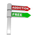 Addiction free being of addictive habits drugs or other bad things in life Royalty Free Stock Image