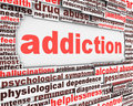 Addiction message design Stock Images