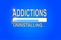 ADDICTIONS Uninstalling - Original Royalty Free Stock Photo
