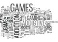 Addictive Games Word Cloud Royalty Free Stock Photo