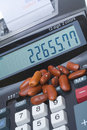 Adding Machine Kidney Beans, Accounting Counting Royalty Free Stock Images