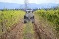 Adding nutrients to crop a washington farmer adds his raspberry Stock Photos