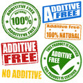 Additive free stamps Royalty Free Stock Photo