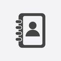 Address book icon. Royalty Free Stock Photo