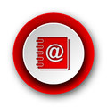 address book red modern web icon Royalty Free Stock Photo