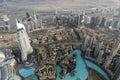 Downtown Dubai seen from Burj Khalifa Royalty Free Stock Photo