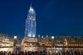 The Address Hotel, Dubai at night Royalty Free Stock Photo