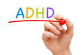 ADHD Attention Deficit Hyperactivity Disorder Royalty Free Stock Photo