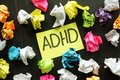 ADHD Attention deficit hyperactivity disorder sign Royalty Free Stock Photo