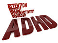 Adhd d design attention deficit hyperactivity disorder Stock Photos