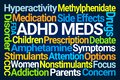 ADHD Meds Word Cloud Royalty Free Stock Photo