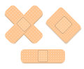 Adhesive bandage set vector illustrated Royalty Free Stock Images