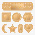 Adhesive bandage set vector of illustrations Stock Photo