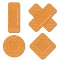 Adhesive bandages vector illustration of the Royalty Free Stock Image