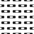 Adhesive plaster icon in black style isolated on white background