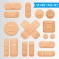 Adhesive Plaster Strips Set Transparent Background Royalty Free Stock Photo