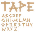 Adhesive tape alphabet Royalty Free Stock Images
