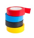 Adhesive tape on the white background Royalty Free Stock Photos