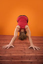Adho Mukha Svanasana Yoga Pose Stock Photography