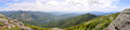 Adirondack mountains panorama new york state usa with mt marcy at left and lake colden at the center from top of algonquin peak Stock Photos