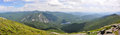 Adirondack mountains panorama new york state usa with mt marcy at left and lake colden at the center from top of algonquin peak Stock Image