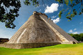 Adivino pyramid in Uxmal, Mexico Royalty Free Stock Images