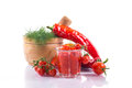 Adjika fresh grated red pepper and chili Stock Image
