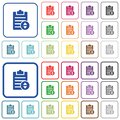 Adjust note priority outlined flat color icons Royalty Free Stock Photo