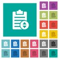 Adjust note priority square flat multi colored icons Royalty Free Stock Photo