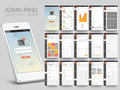 Admin Panel User Interface layout. Royalty Free Stock Photo