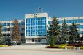 Administration building of anapa and square nearby main entrance Royalty Free Stock Image